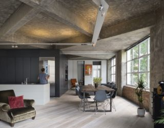 Concrete Charisma: Stunningly Refurbished Modern Industrial London Loft
