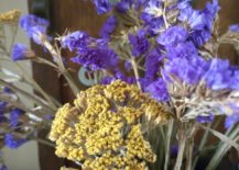 Dried flowers in a silver pitcher 217x155 How to Decorate with Natural Elements