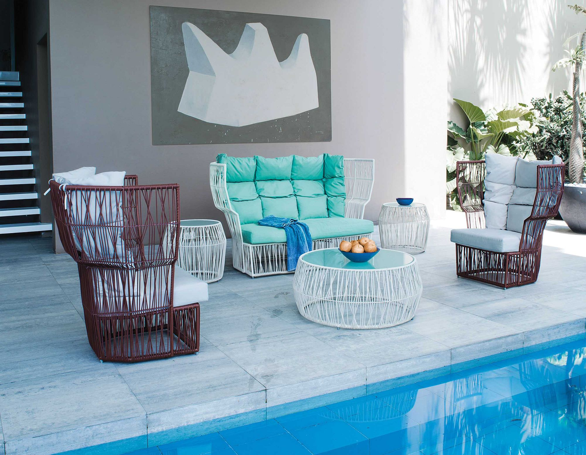 Durable and exquisite outdoor lounge decor from Kenneth Cobonpue