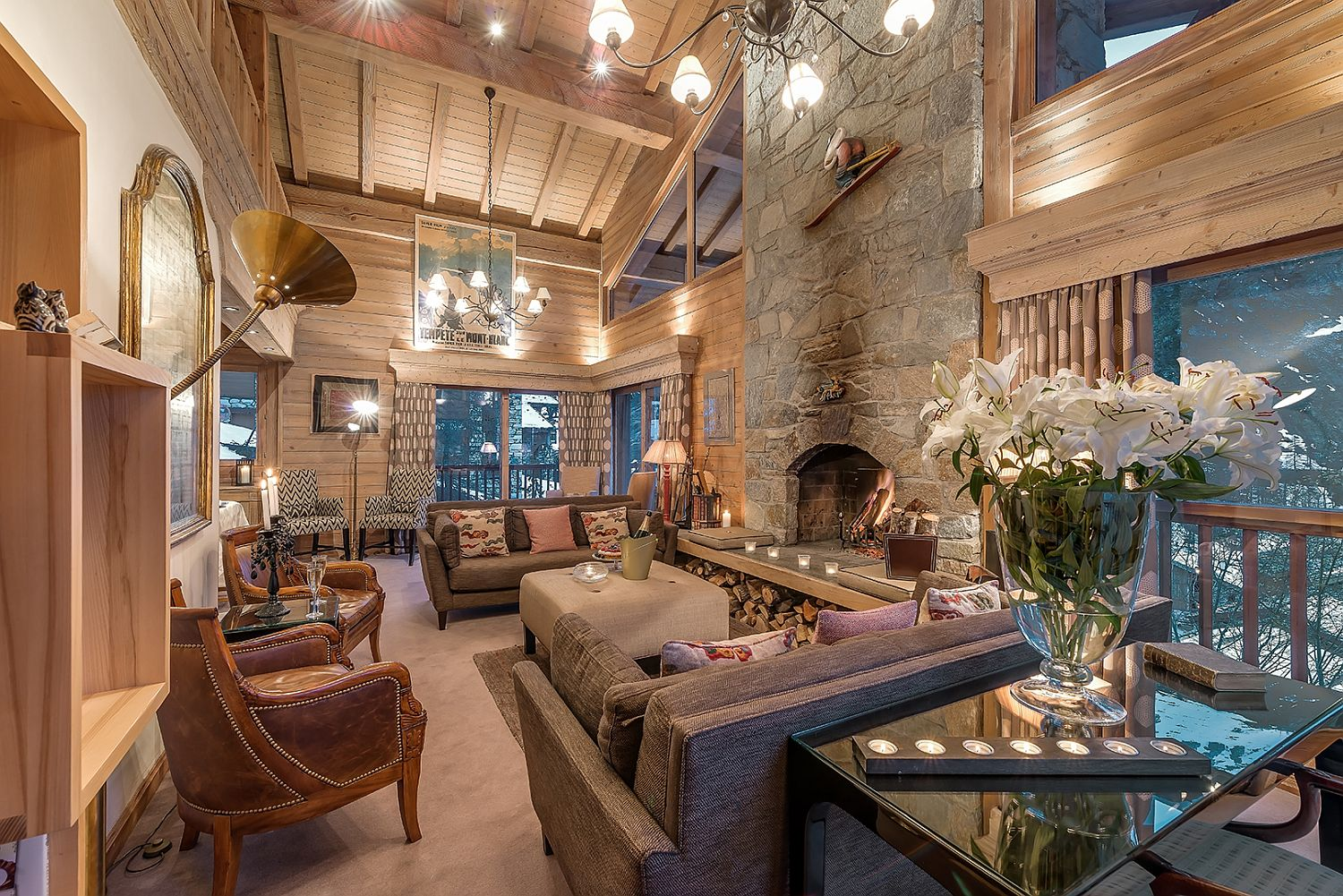 Expansive-living-room-of-the-luxury-chalet-in-Val-DIsere