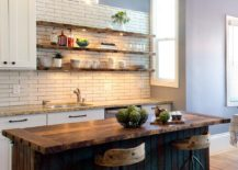 Exceptionnel ... You Can Make To Give Your Modern Kitchen A Rustic Tweak, Few Offer An  Easier Option Than Those Floating, Open Shelves. Rustic Kitchen Shelving  Bring ...