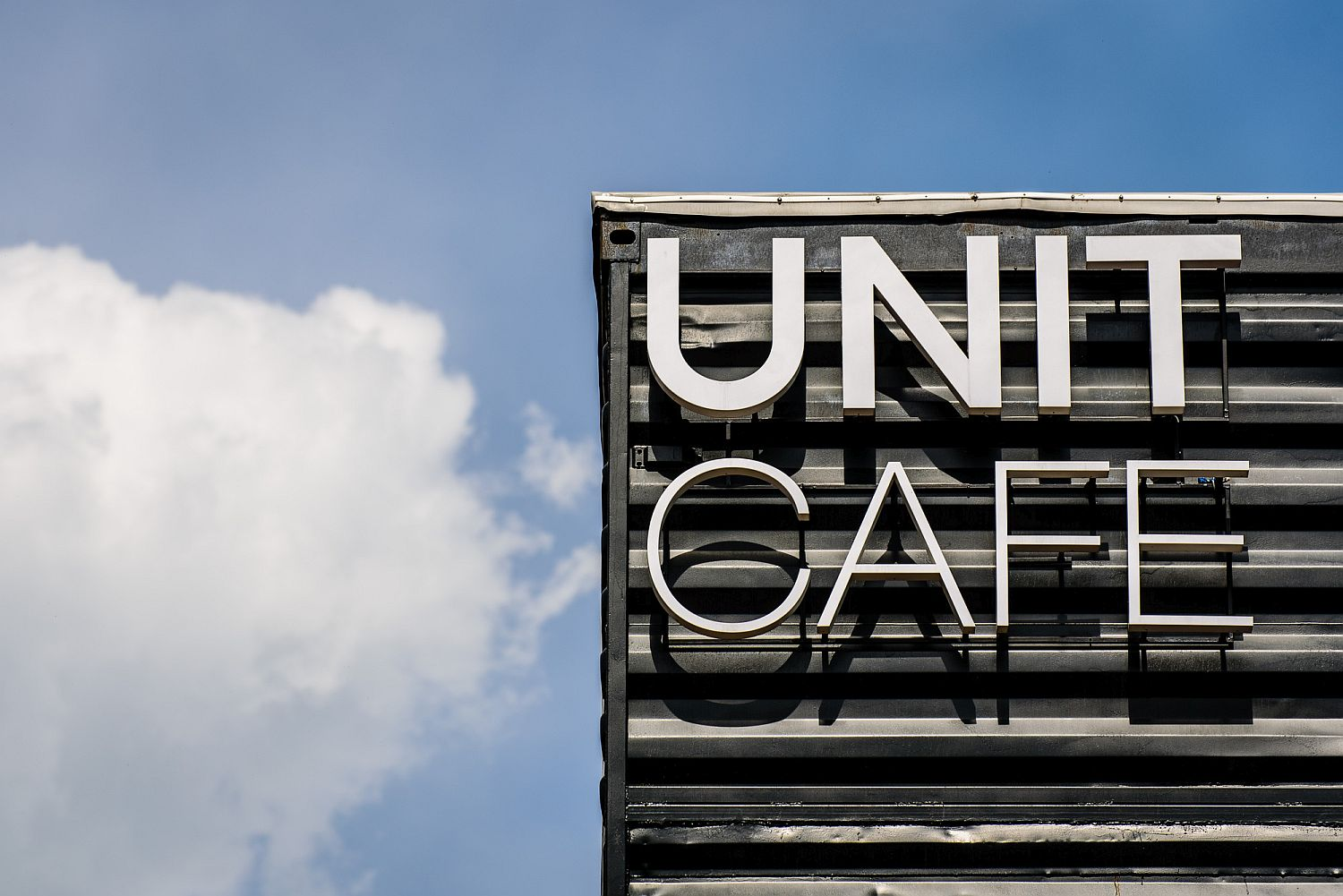 Exterior of the Unit Cafe