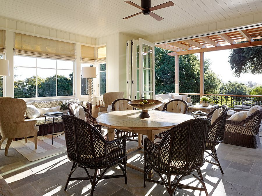 Fabulous patio and sunroom provide a wonderful outdoor living space