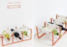 Fashionable-copper-and-leather-wine-rack-DIY-217x155