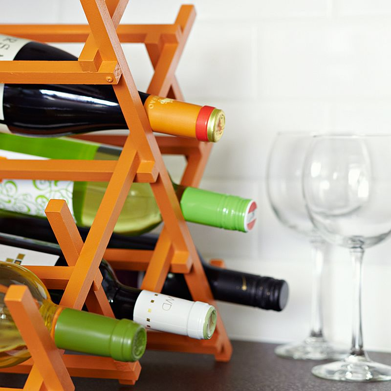 Give your wine rack a modern, artistic twist
