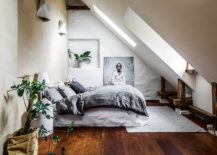 Gorgeous attic guest room with modern Mediterranean style 217x155 15 Small Guest Room Ideas with Space Savvy Goodness