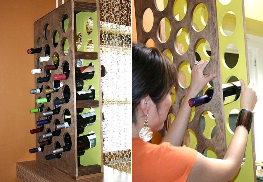 Handcrafted DIY wine rack