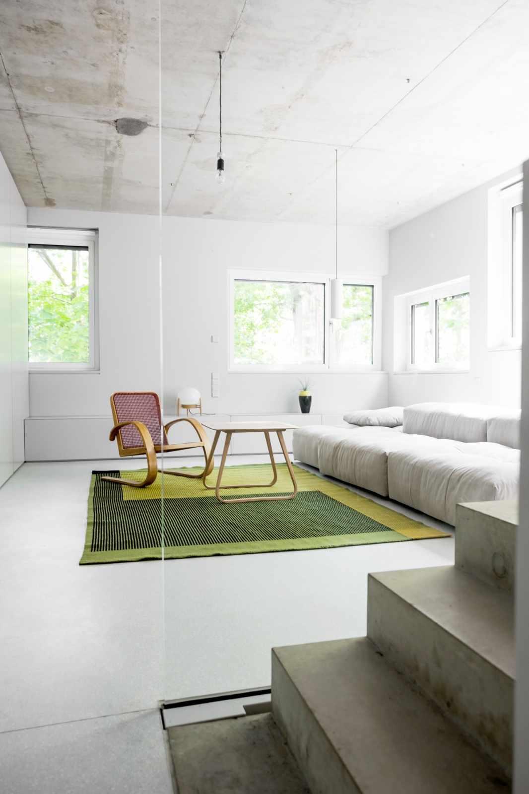 House on Prenzlauer Berg green rug
