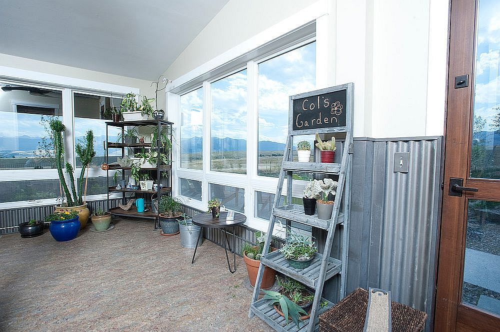 Indoor vertical gardens are a great way to liven up the sunroom