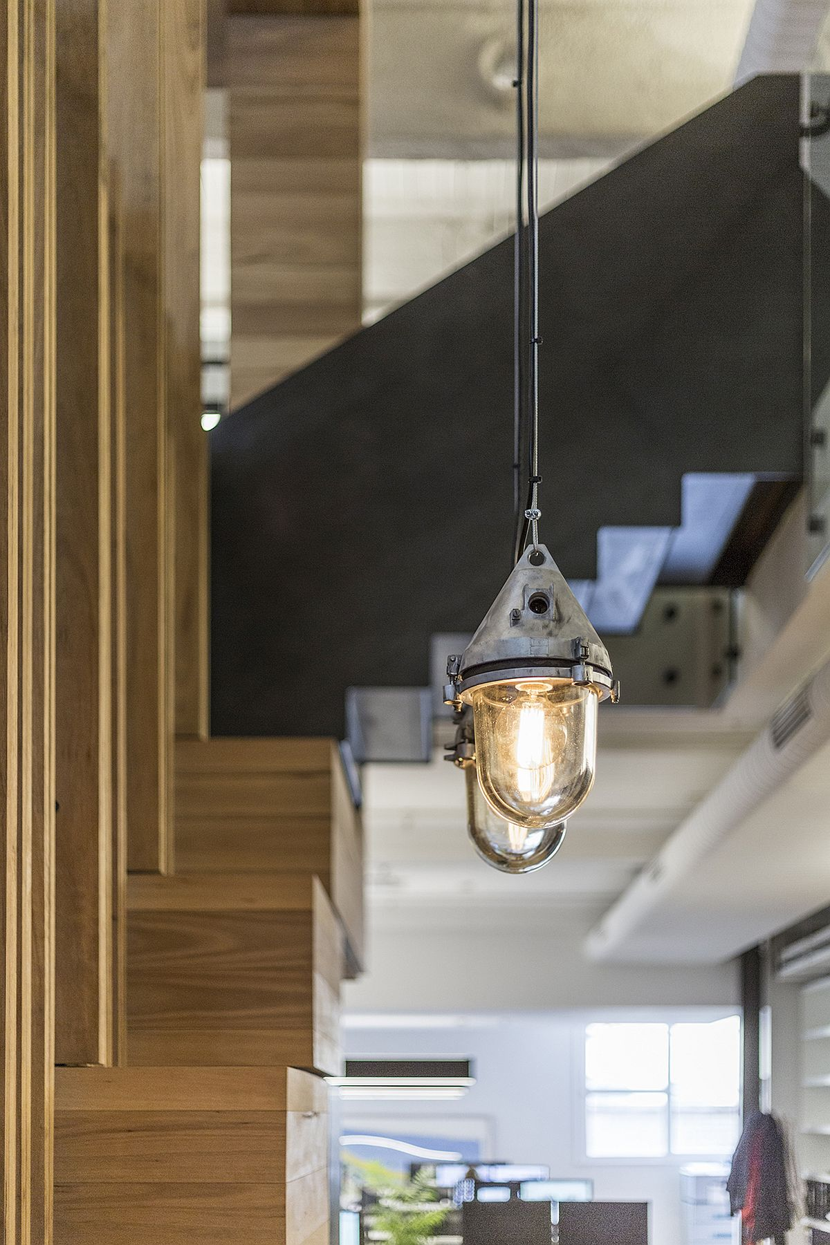 Industrial style pendant lighting for the creative modern office