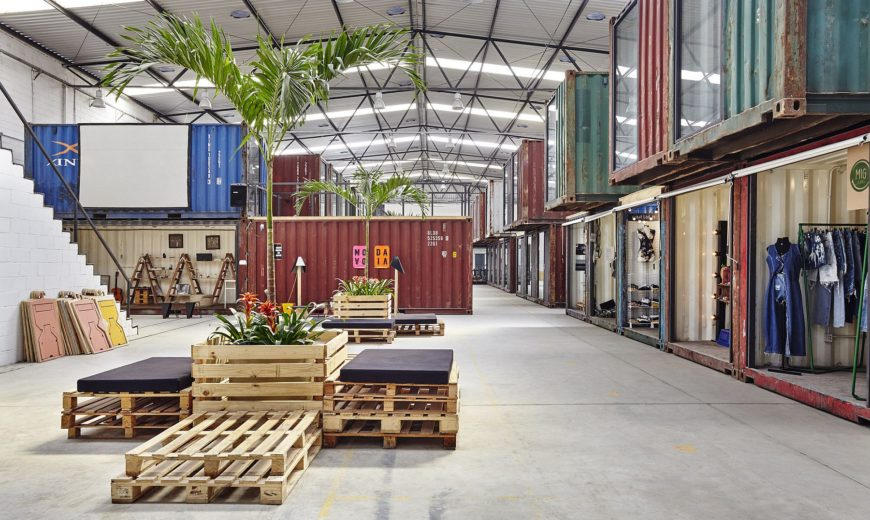 42 Repurposed Containers Inside a Warehouse Reshape Rio's Fashion Scene!