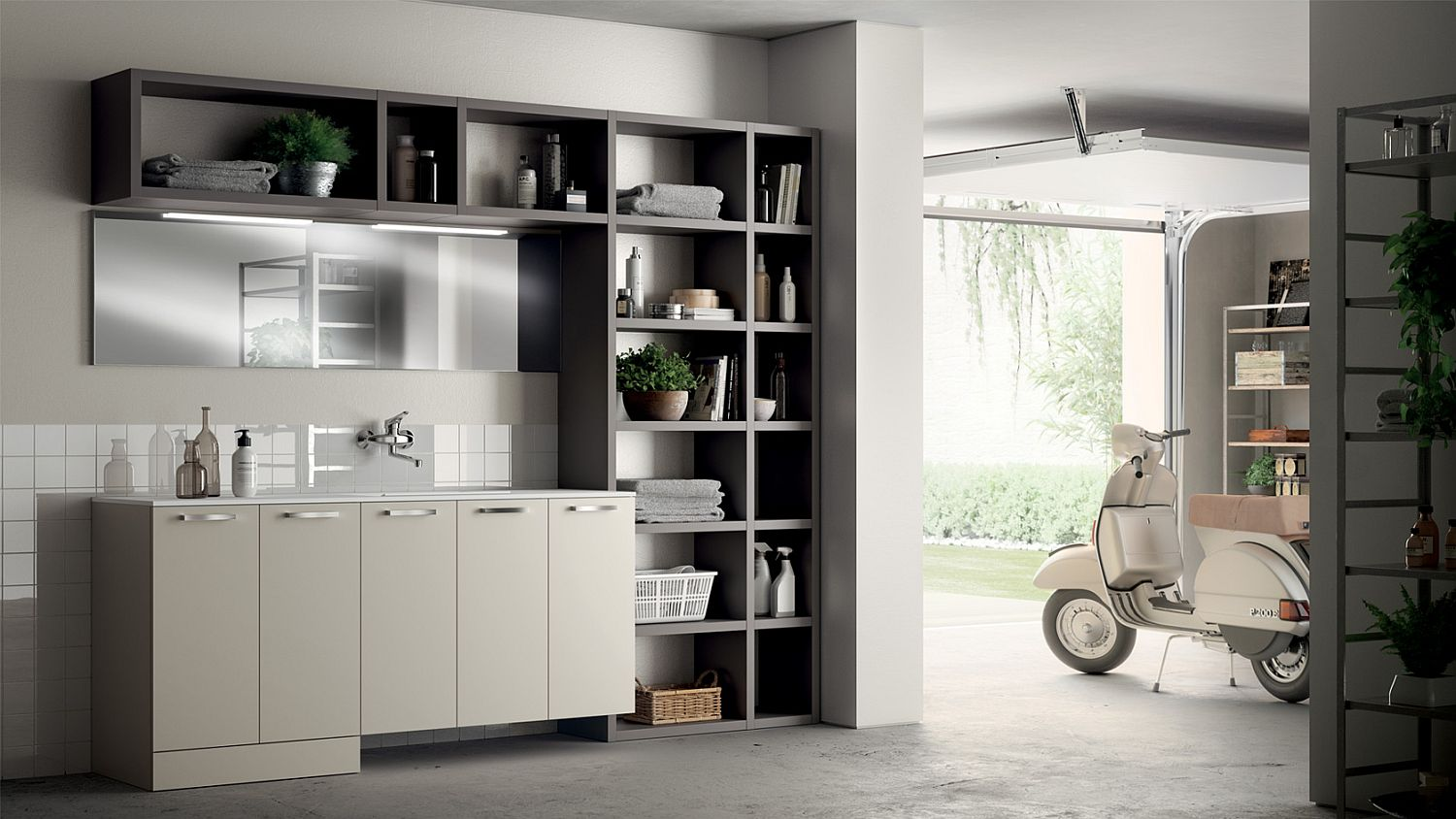 Laundry Space designed by Idelfonso Colombo for Scavolini