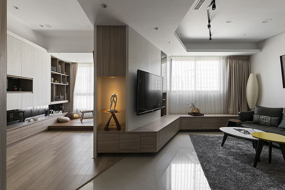 7 Apartment Decorating And Small Living Room Ideas: Exploring New Angles: Small Residence In Taipei With A