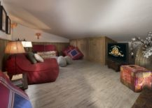 Luxurious-TV-room-with-sloped-ceiling-and-bean-bags-217x155