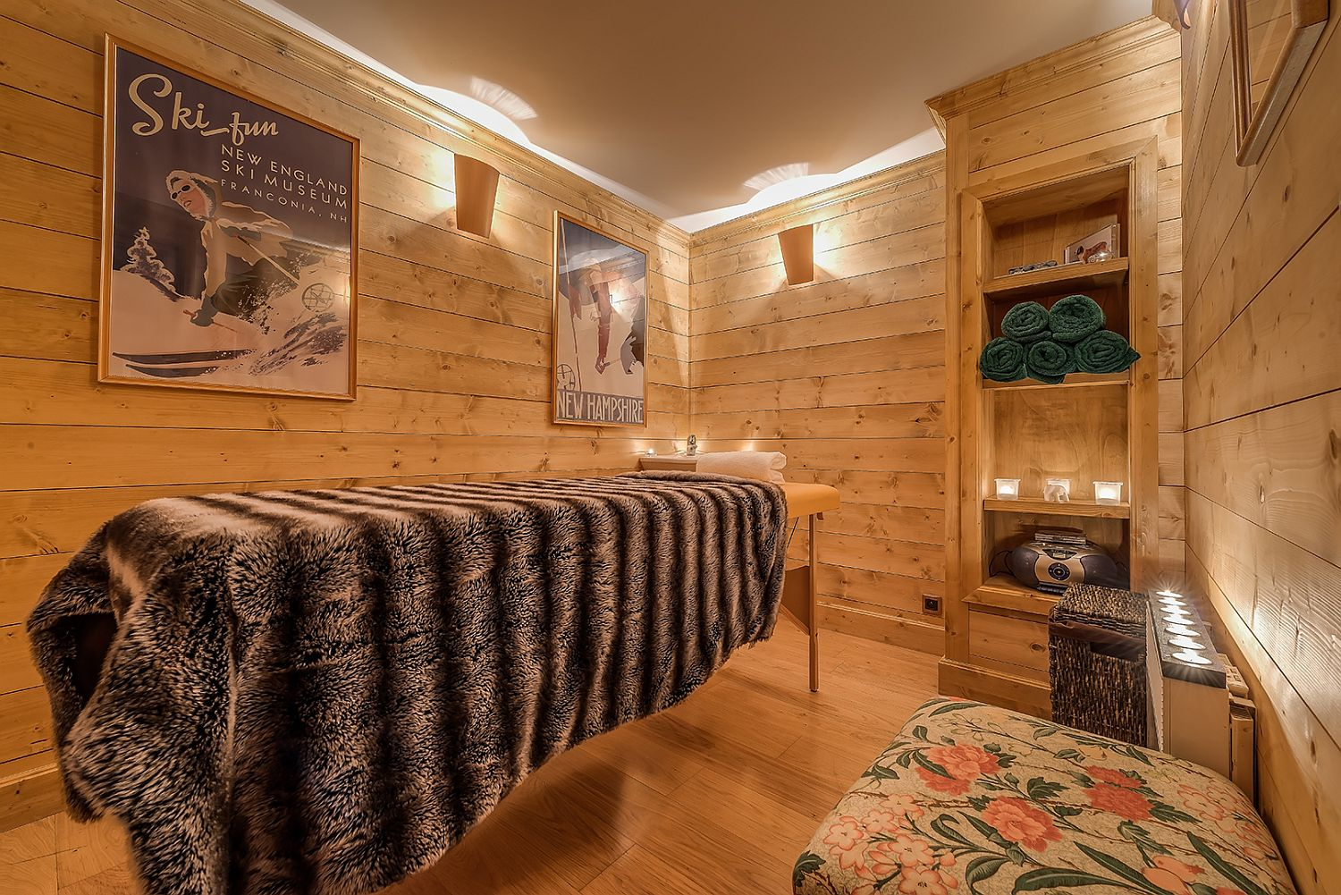 Massage-room-and-spa-at-the-luxury-French-chalet