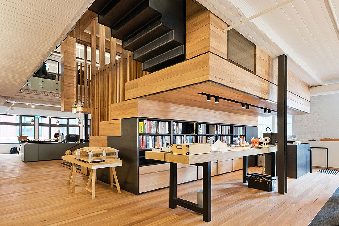 Box-Style Events Space with Tiered Seating Defines This Office!