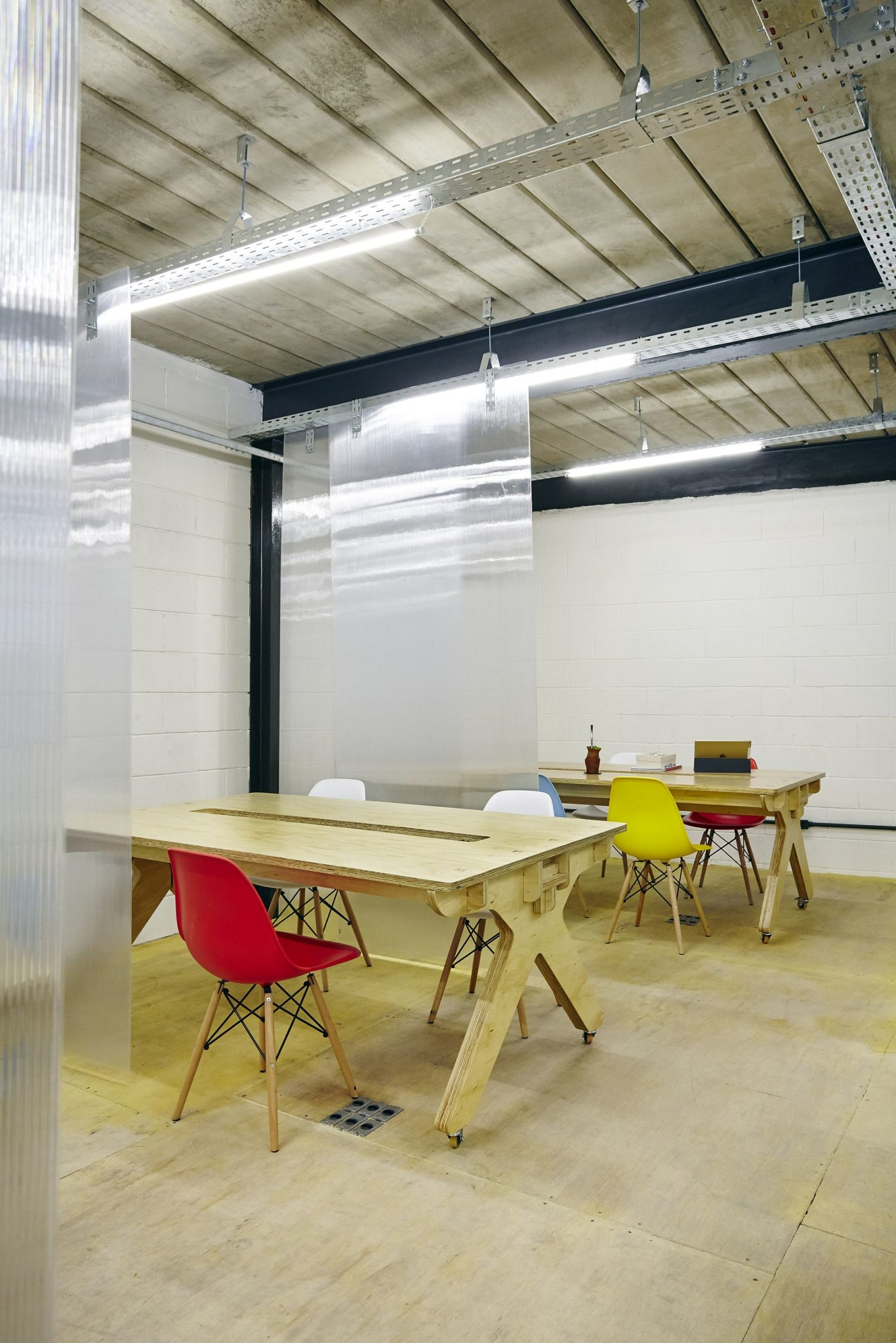 Meeting spaces and dining zones inside MALHA