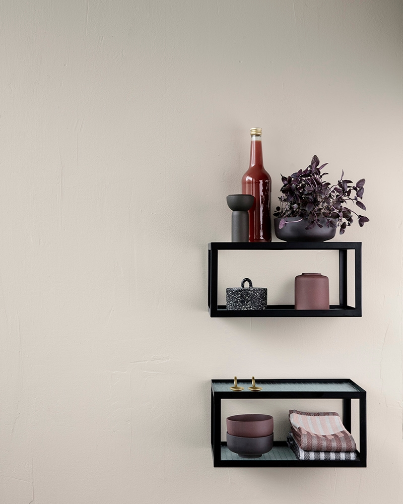 Metal and glass shelf from ferm LIVING