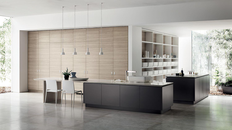 inspiredjapanese minimalism: posh scavolini kitchen conceals