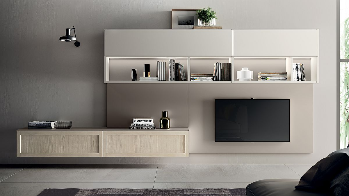 Minimal and ultra-stylish Living Carattere from Scavolini