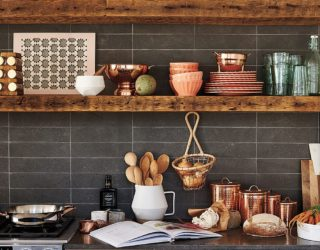 Rugged Charm: 20 Rustic Shelving Ideas for your Modern Kitchen