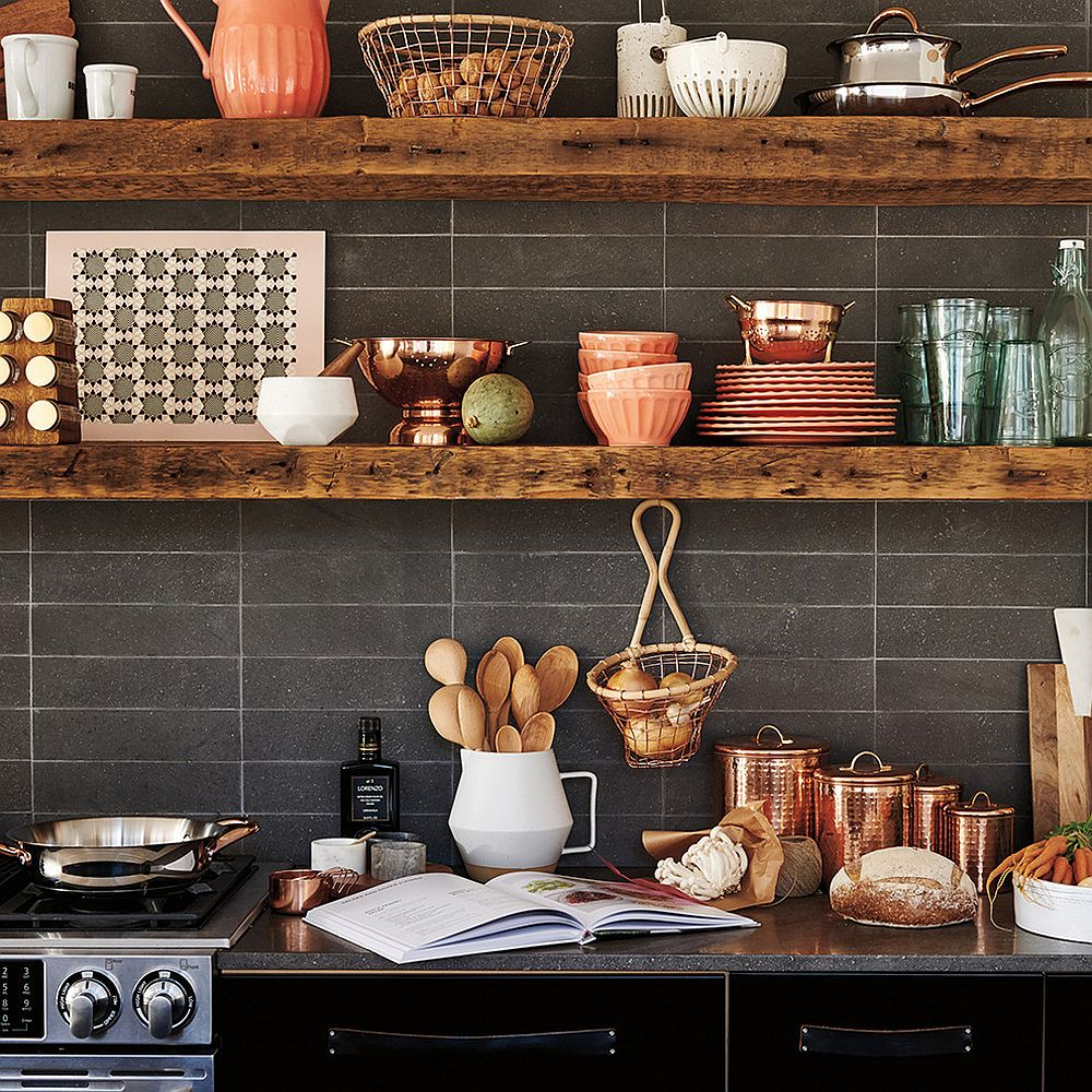 Kitchen Shelf Designs: 20 Rustic Kitchen Shelving Ideas With Timeless Rugged Charm