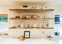 ... you can make to give your modern kitchen a rustic tweak few offer an easier option than those floating open shelves. Rustic kitchen shelving bring ... & 20 Rustic Kitchen Shelving Ideas with Timeless Rugged Charm