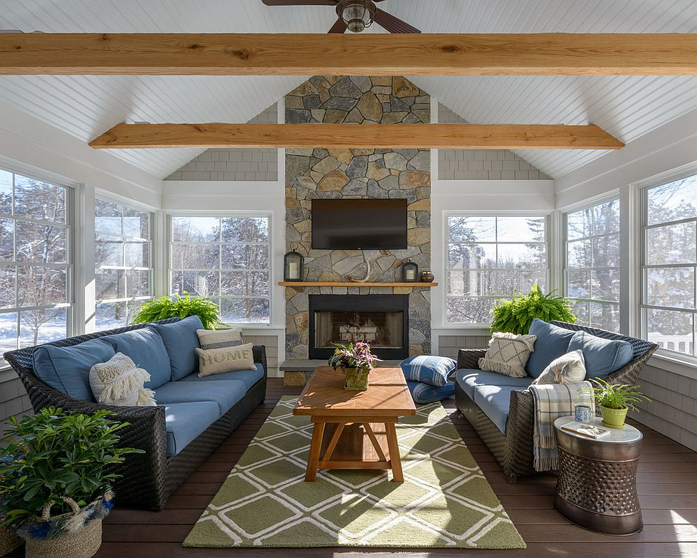 Sunroom indoor plant ideas 15 trendy and stylish inspirations for Sunrooms with fireplaces