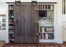 Reclaimed-barn-door-serves-as-pantry-door-in-this-modern-kitchen-217x155