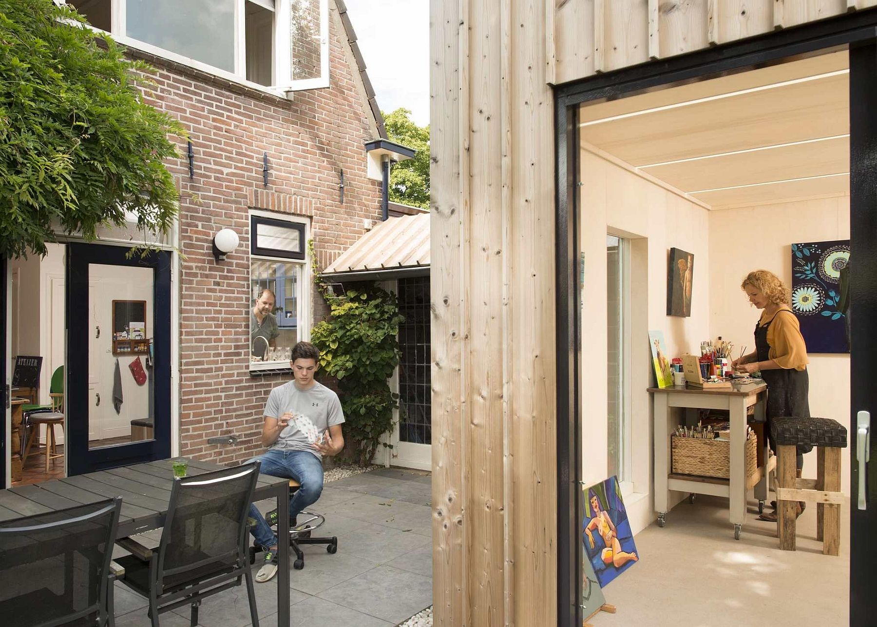 Renovated modern home and painting studio in The Netherlands