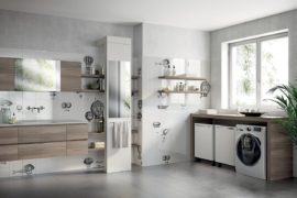 Inventive New Scavolini Composition Combines Bathroom with Laundry Space