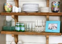 ... You Can Make To Give Your Modern Kitchen A Rustic Tweak, Few Offer An  Easier Option Than Those Floating, Open Shelves. Rustic Kitchen Shelving  Bring ...