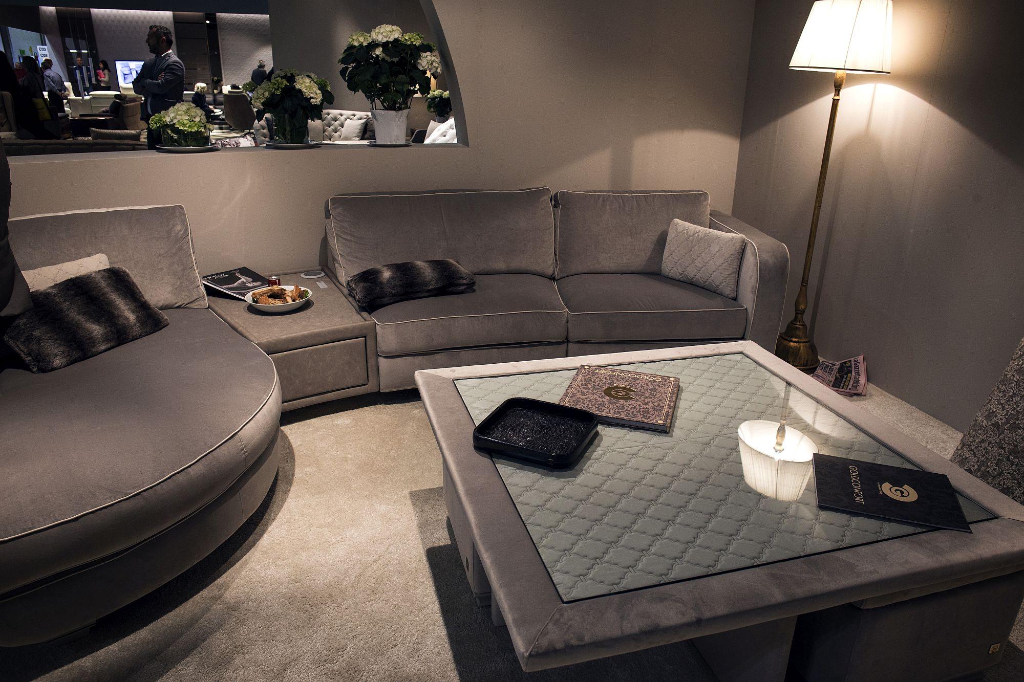 Sleek-floor-lamp-also-adds-metallic-tinge-to-the-living-room-in-gray