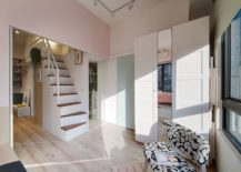 Smart-shelving-and-loft-bedroom-with-storage-underneath-transform-the-small-apartment-217x155