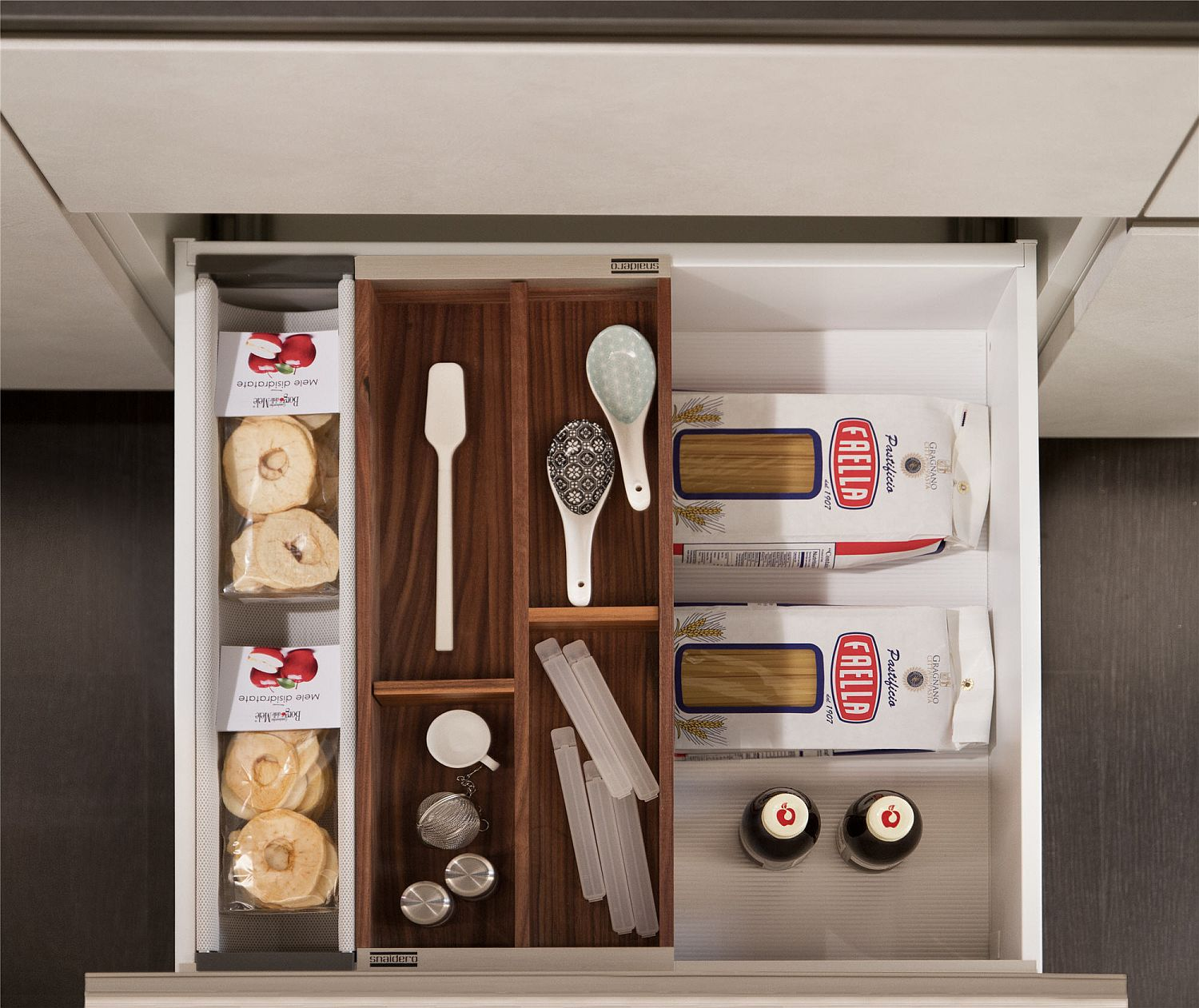 Smart storage solutions help in better organization of Joy Kitchen