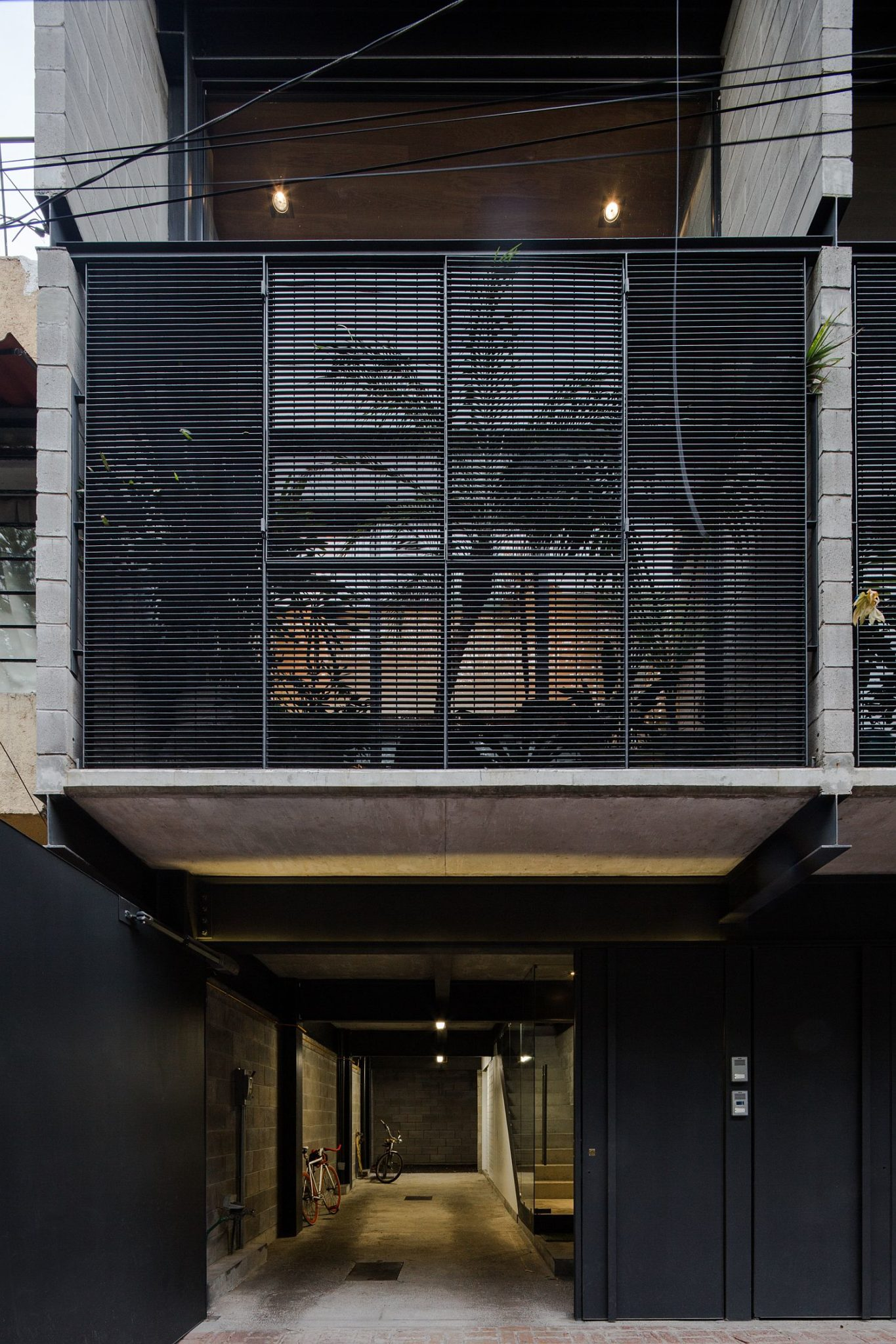 Street facade of the townhouse offers complete privacy