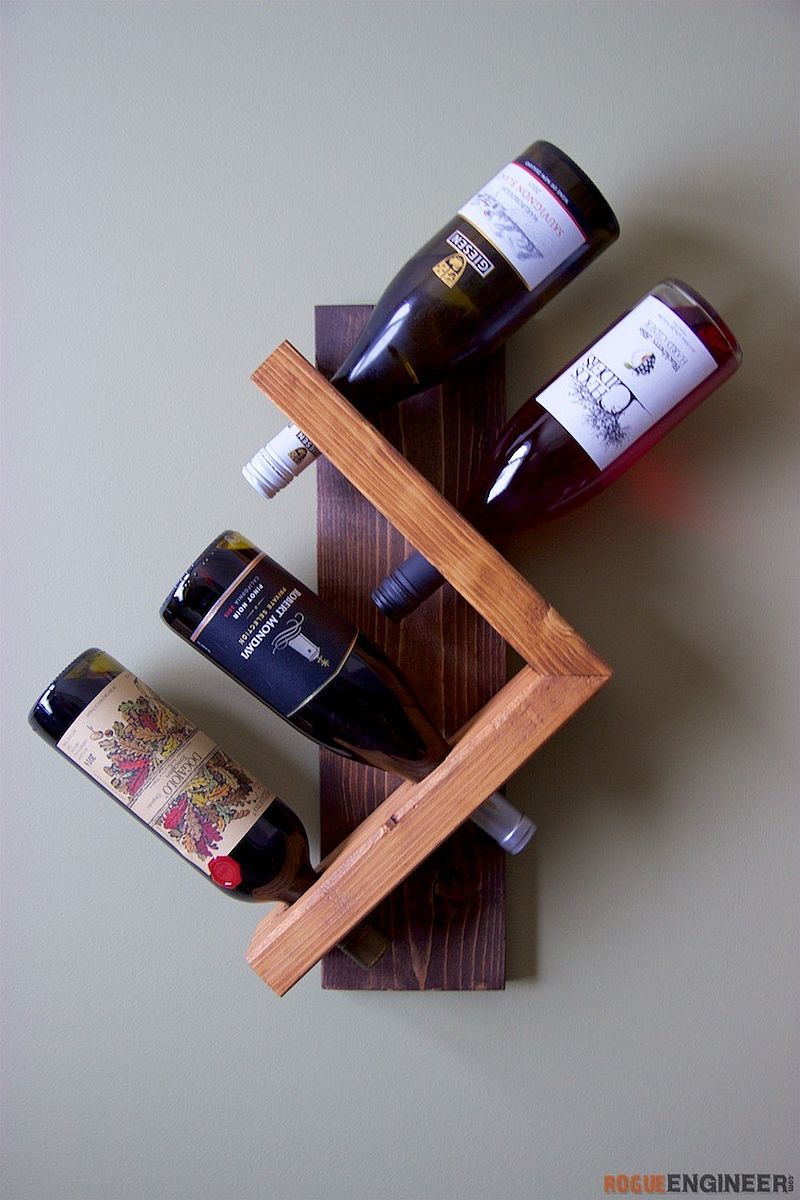 diy wine decorating homedit mounted home pallets wall racks made pallet trends of rack