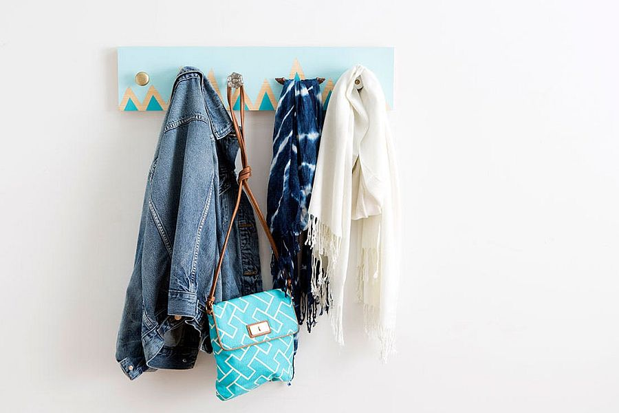 Stylish modern DIY coat rack