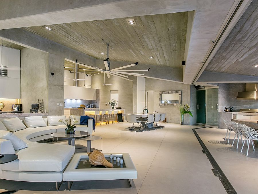 10 contemporary rooms with concrete ceiling for Interni case design