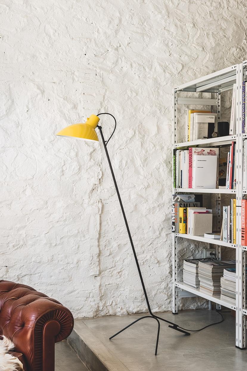 VV Cinquanta floor lamp yellow