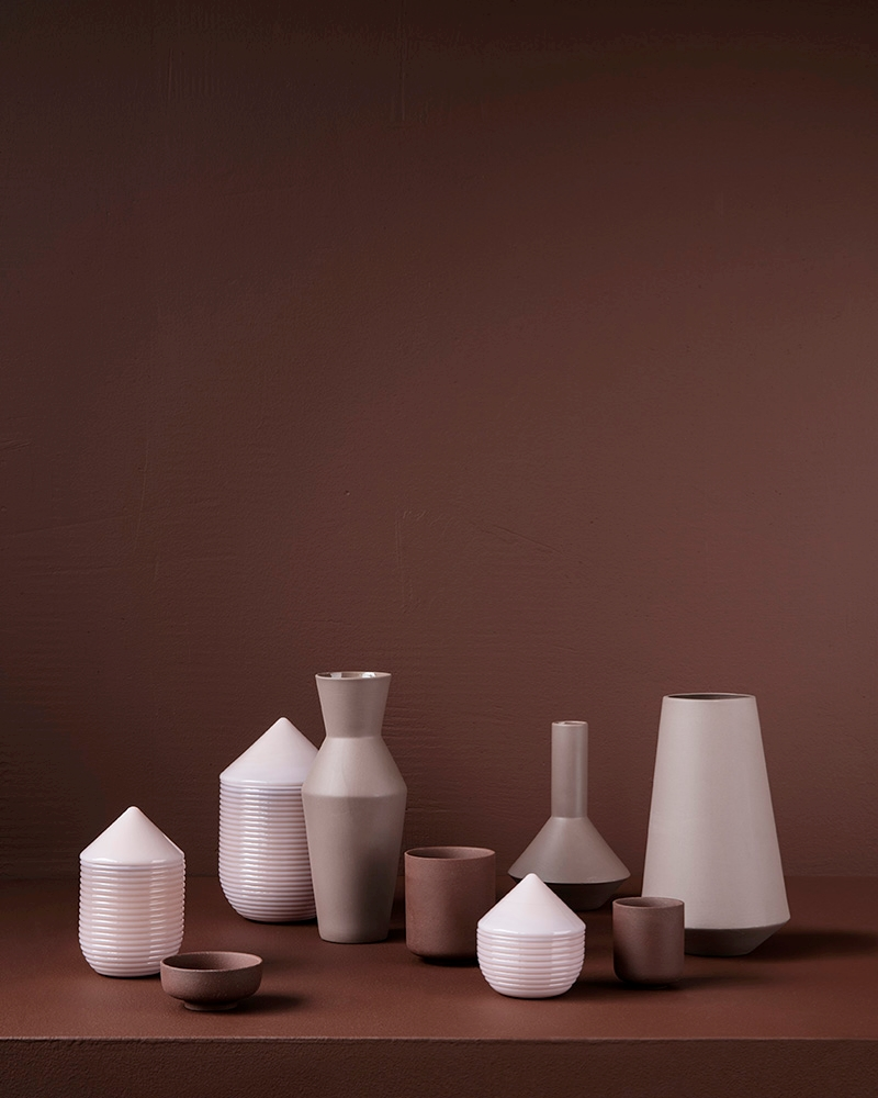 Vases and jars in modern forms
