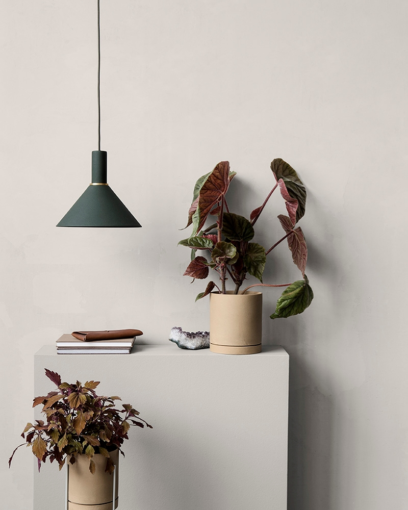 A fall decor vignette from ferm LIVING