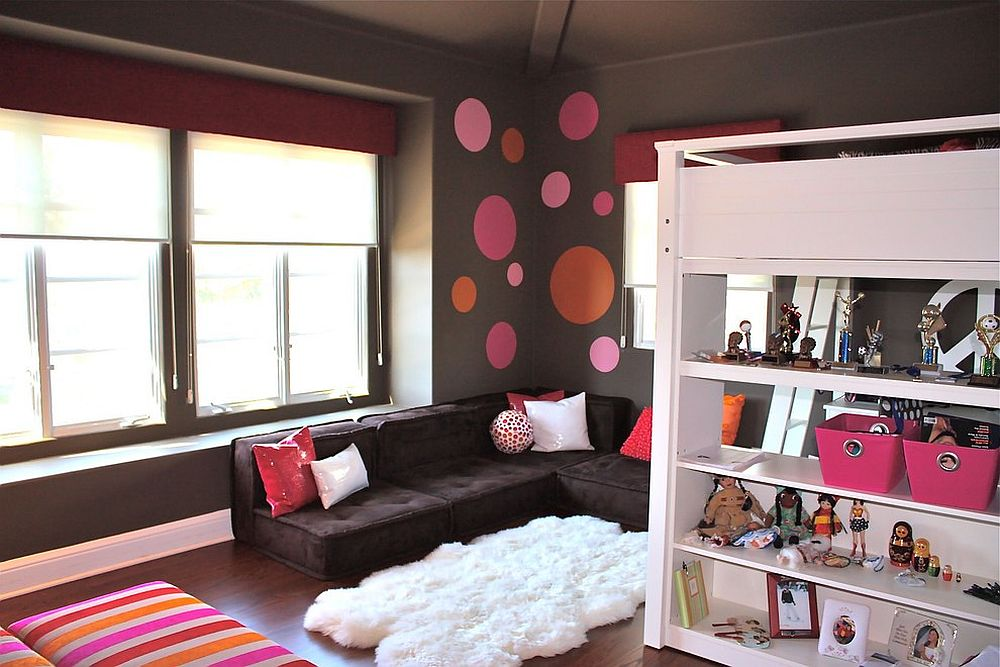 A relaxing lounge in the kids' room is something parents can also enjoy