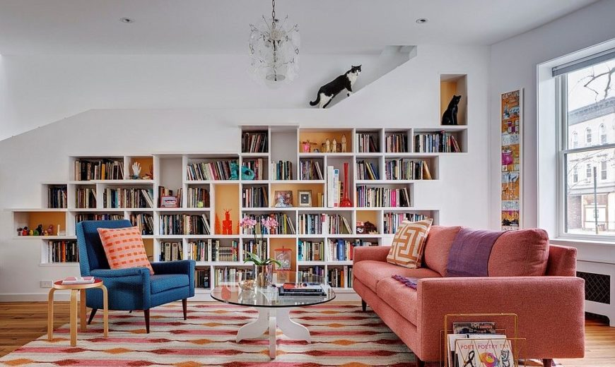 Books, Cats and Melon Popsicle: Brooklyn Row House Revamp Full of Personality!