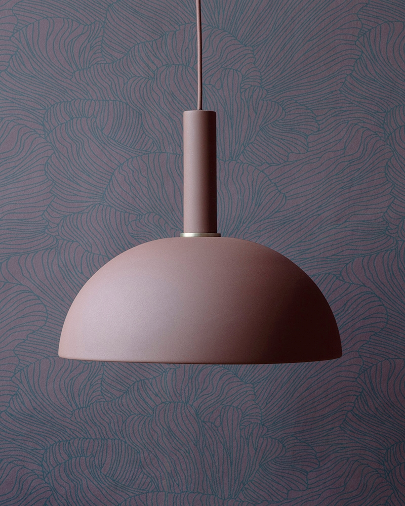 Berry-toned wallpaper from ferm LIVING