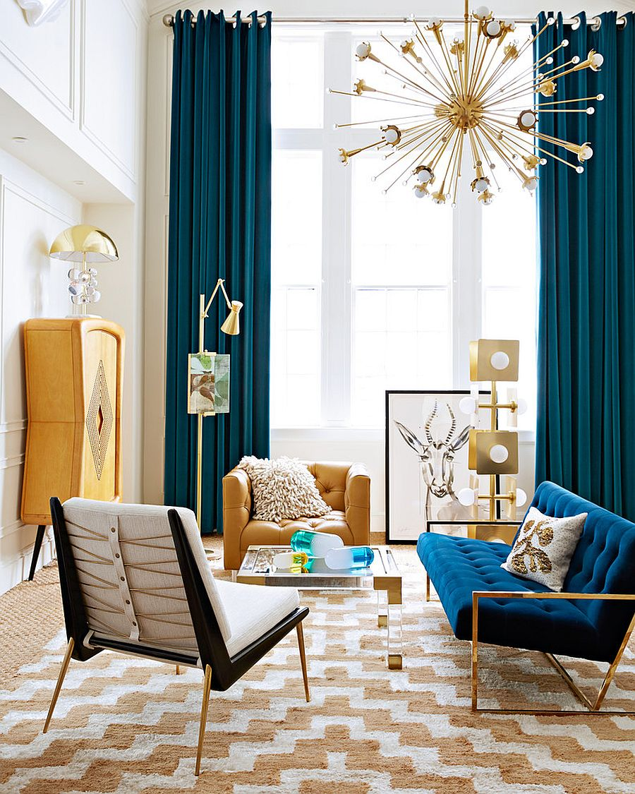 15 Blue Drapes And Curtain Ideas For A Stunning Modern Interior