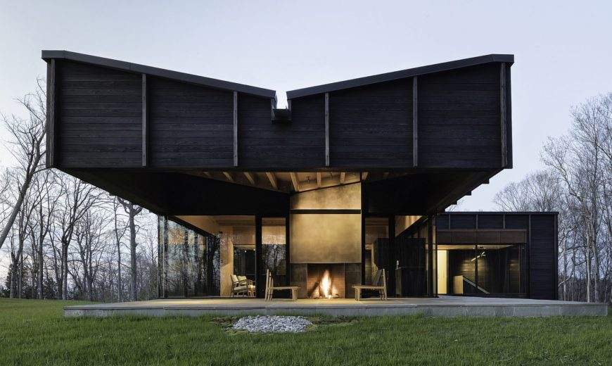 Enthralling Cantilevered Structure Meets Eco-Friendly Design at this Lake House