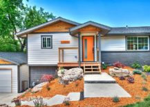 Cheerful-exterior-of-modern-home-in-white-gray-and-orange-217x155