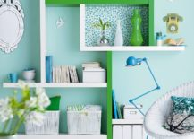 Colorful-home-office-in-pastel-blue-with-pops-of-green-217x155