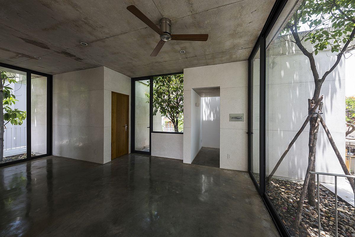 Concrete and terrazzo create a unique, modern green home in terrazzo Vietnam